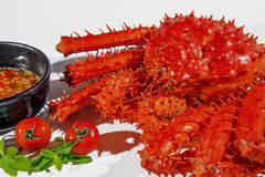 King crab, Food crab of legs. Royalty Free Stock Image