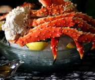 King crab on ice Royalty Free Stock Images