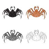 King crab icon in cartoon style isolated on white background. Sea animals symbol stock vector illustration. King crab icon in cartoon design isolated on white Stock Photos