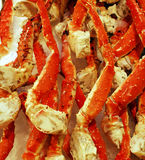 King Crab Legs on Ice Stock Photo