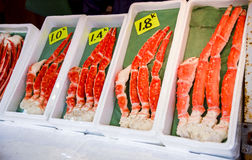 King crab legs. For sell Stock Photos