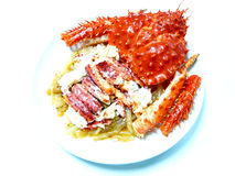 King crab menu. Chinese cuisine food menu king crab hong kong style Stock Photography