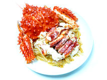 King crab menu Royalty Free Stock Image