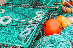 King crab nets Stock Image