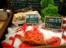 King Crab. This is a photograph of a king crab in Taiwan Royalty Free Stock Images