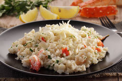 King crab risotto Royalty Free Stock Image