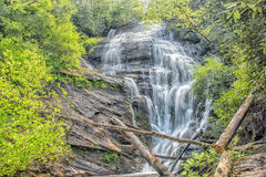 King Creek Falls, Chattahoochee National Forest. King Creek Falls in the Chattahoochee National Forest, near the Chattooga Wild and Scenic River stock photos