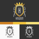 King Crest Ornament Template. Vector Elements. Brand Icon Design Illustration. EPS10 Royalty Free Stock Image