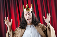 King with crown Stock Images