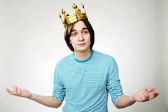 King with crown Royalty Free Stock Photos