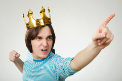 King with crown Stock Image