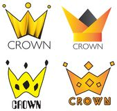 King Crown Elements Logo Set Stock Photography