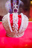 King crown encrusted with diamonds Royalty Free Stock Photography