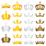 King crown gold silver bronze Royalty Free Stock Images