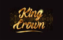 Goldenlogotype copy 65. King crown gold word text with sparkle and glitter background suitable for card, brochure or typography logo design Stock Illustration