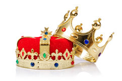 King crown. Isolated on white stock images