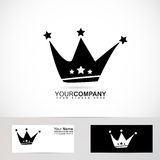 King crown logo black and white Royalty Free Stock Photo
