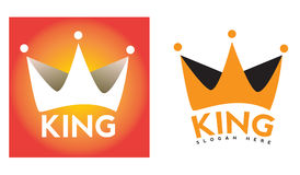 King crown logo Stock Image