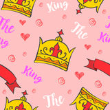 King crown pattern style collection Royalty Free Stock Photos