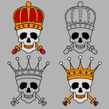 King crown skull mascot Royalty Free Stock Photos