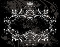 King crown and vine border Stock Images