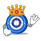 King Cryptonex coin mascot cartoon. Vector illustration Stock Photo