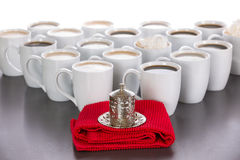 King of the cups of coffee Royalty Free Stock Photography