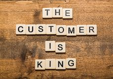 King. Customer the skills experience business new royalty free stock photography