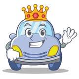 King cute car character cartoon Royalty Free Stock Photo