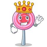King cute lollipop character cartoon. Vector illustration Stock Photo