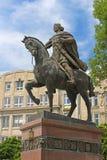 King Danylo Galytsjkyj monument in Lviv stock images