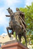 King Danylo Galytsjkyj monument, Lviv, Ukraine Royalty Free Stock Photography