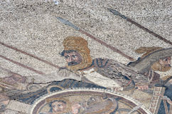 King Darius. Ancient roman mosaic of King Darius of the Persians during his battle with Alexander the Great at Issus Royalty Free Stock Photos