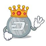 King Dash coin character cartoon. Vector illustration Stock Image