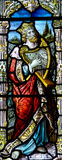 King David with harp  in stained glass Royalty Free Stock Image