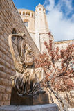 King David. With harp statue, Jerusalem Israel royalty free stock photos