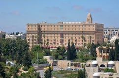 King David Hotel in Jerusalem - Israel. JERUSALEM, ISR - MAR 19 2015:Aerial view of King David Hotel in Jerusalem, Israel.It's a 5-star hotel frequent hosting Royalty Free Stock Images