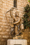 King David's statue playing the harp Royalty Free Stock Photo