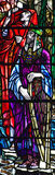 King David in stained glass Royalty Free Stock Images