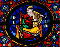 King David - stained glass Royalty Free Stock Image
