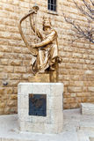 King David Statue in Jerusalem Royalty Free Stock Photos