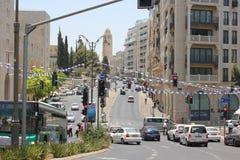 King David street in Jerusalem Royalty Free Stock Image