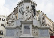 King David by Tadoini, base of the Column of the Immaculate Conception monument, Rome Royalty Free Stock Images
