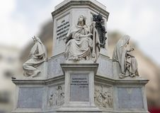 King David by Tadoini, base of the Column of the Immaculate Conception monument, Rome Stock Photo