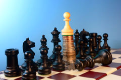 King is dead ,pawn rise Stock Photo