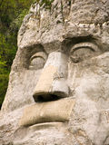 King Decebal face statue stock photo