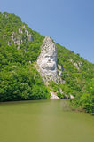 King Decebal, rock sculpture Stock Images