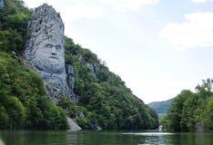 King Decebal, rock sculpture Royalty Free Stock Photos
