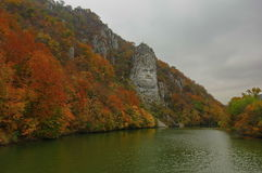 King Decebalus in autumn colors Stock Photo