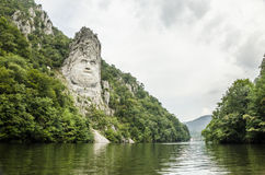 King Decebalus, on the river Danube Royalty Free Stock Image